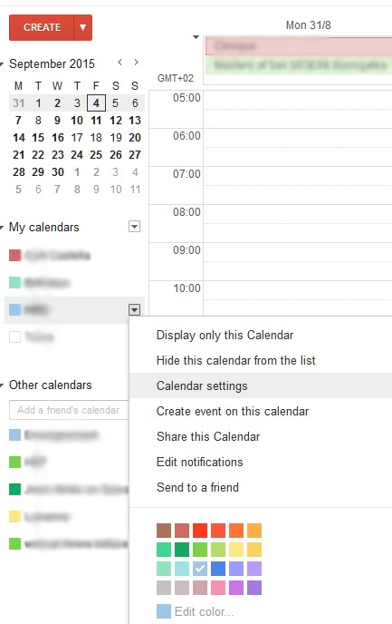 Windows 10: synchronize all your Google calendars (own and subscribed)