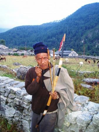 Tour des Annapurnas : Marpha   Larjung   Kalopani tir a l arc kalopani nepal 338x450