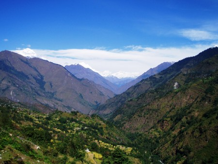 Tour des Annapurnas : Tatopani   Sikha garpha dhaulagiri trek de jomosom nepal 450x338