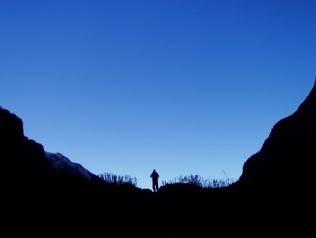 Tour des Annapurnas : Deurali   Annapurna Base Camp trekker ombre chinoise annapurna base camp nepal 450x338