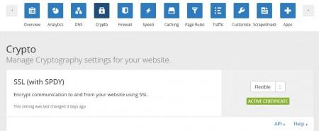 Wordpress en https (SSL) gratuitement avec Cloudflare cloudflare flexible ssl 450x185
