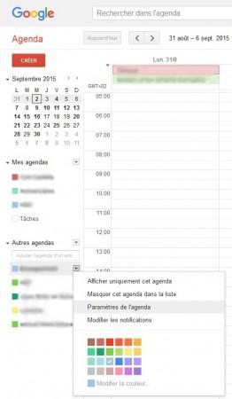 Windows 10 : synchroniser tous ses calendriers google google parametres agenda 262x450