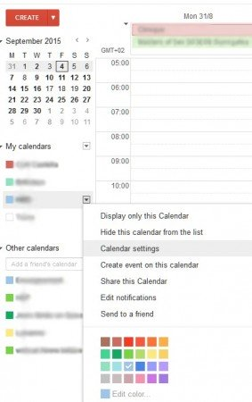 Windows 10: synchronize all your Google calendars google calendar settings 283x450