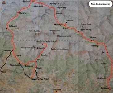 Everest, Tour des Annapurnas, Langtang : trouver des cartes de trek