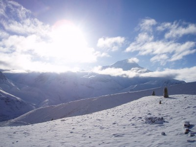 Tour des Annapurnas : High Camp   Thorung La   Muktinath lever soleil thorung la annapurnas nepal 400x300