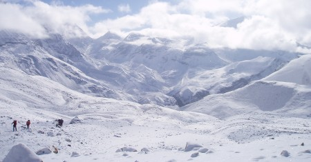 Tour des Annapurnas : High Camp   Thorung La   Muktinath montee thorong la tour annapurnas nepal1 450x235