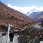 Photos de trek au Népal pont suspendu laddar nepal 150x150